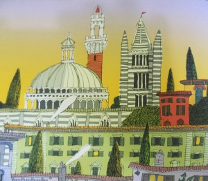 firenze illustrazione
