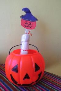 zucca di halloween con marshmallows